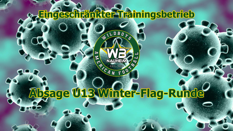 Eingeschränkter Trainingsbetrieb / U13 Winter-Flag-Runde abgesagt