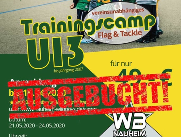 Trainingscamp ausgebucht!
